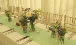 Wedding Table of Jam Jars (2)